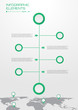Workflow diagram for business organization or web design with map background some Elements of this image furnished by NASA