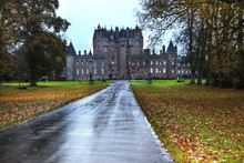 Glamis Castle Near Forfar - Angus, Aberdeenshire, Scotland, United Kingdom. Glamis Was The Childhood Home Of Queen Elizabeth The Queen Mother.