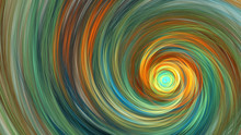 Fantastic Swirl. Abstract Orange And Green Texture. Fractal Background. Fantasy Digital Art. 3D Rendering.