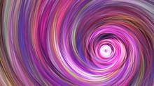 Fantastic Swirl. Abstract Purple, Orange And Blue Texture. Fractal Background. Fantasy Digital Art. 3D Rendering.