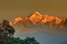 First Light On Mount Kanchenju...