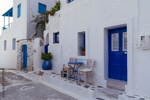 Photo Entrance from a traditional Cycladic house