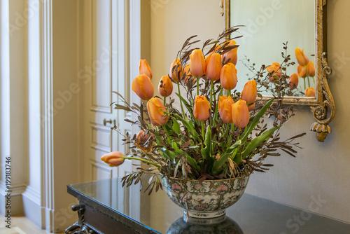 Aluminium Prints Floral Bouquet of tulips
