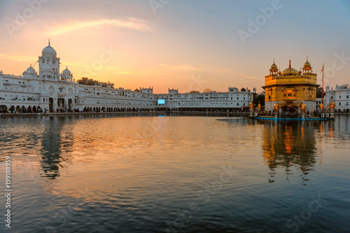 Wall Murals Temple Golden Temple Harmandir Sahib at sunrise. Amritsar