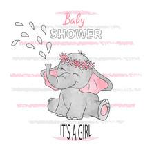 Baby Shower Girl. Vector Illus...