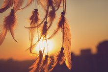 Dreamcatcher Sunset , Boho Chi...