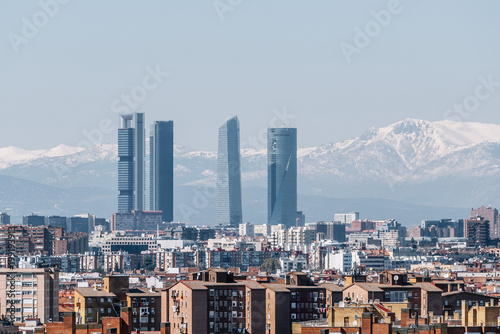 Recess Fitting Madrid General view of the city of Madrid Spain. Four towers