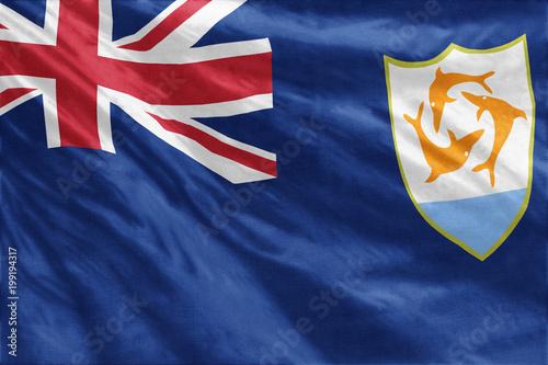 Anguilla flag close-up Canvas Print