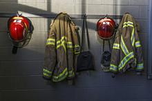 Firefighter Helmet And Uniform