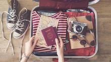 Travel Suitcase Preparing Concept