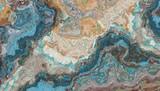 Fototapeta Kamienie - Turquoise raw gemstone texture