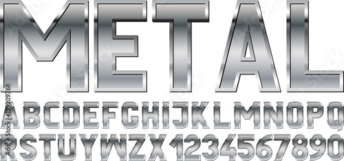 Photo metal font
