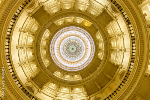 Poster Texas View of the interior of the Texas State Capitol located in downtown Austin