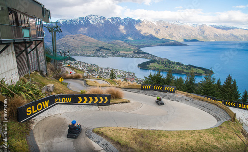 Foto op Canvas Nieuw Zeeland The skyline Queenstown Luge is one of the most famous activity on Queenstown skyline, New Zealand.