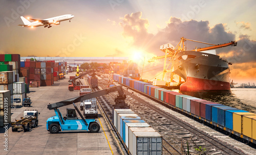 Global business of Container Cargo freight train for