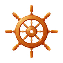 Ship Wheel Marine Wooden Vinta...