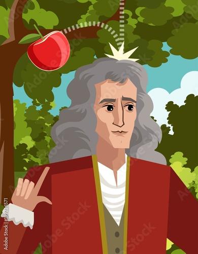 Fotografía  great physicist portrait with apple