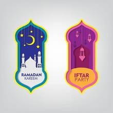 Papercut Ramadan Vector Design...