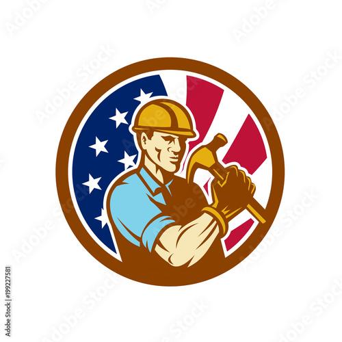 Valokuvatapetti American Handyman USA Flag Icon
