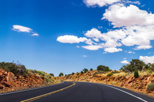 New Highway In Arizona. Journey To The Southwest Of The USA