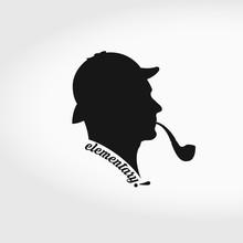 Sherlock Holmes Vector Silhoue...