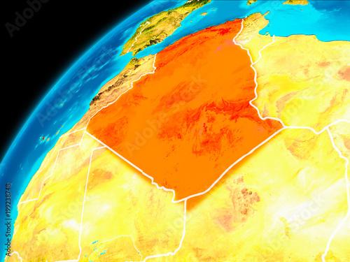 Fototapety, obrazy: Algeria from space