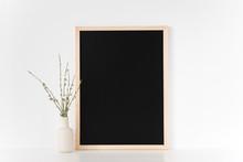 Black Frame Mockup. Portrait