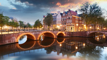 Amsterdam At Night - Holland, ...