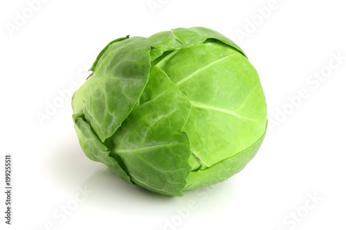Cadres-photo bureau Bruxelles Brussels sprouts isolated on white background closeup