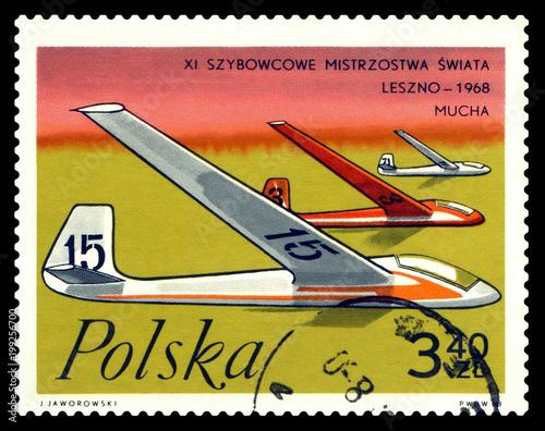 Fotografia  Postage stamp.  Gliders Flies.