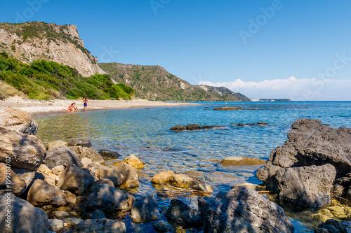 Foto op Plexiglas Cyprus Beautiful sunny beach of Zakynthos, Greece