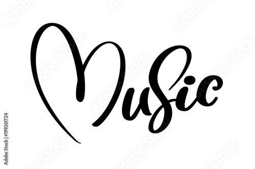 Fotografie, Obraz  music sign icon heart