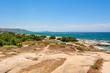 Beautiful sea coast near Agia Anna beach. Naxos island, Greece