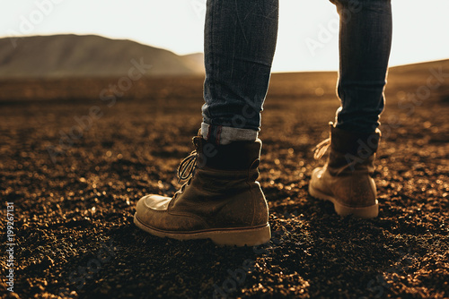 Man standing on the ground