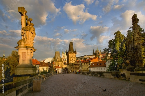 Wall Murals Prague Spring Charles Bridge
