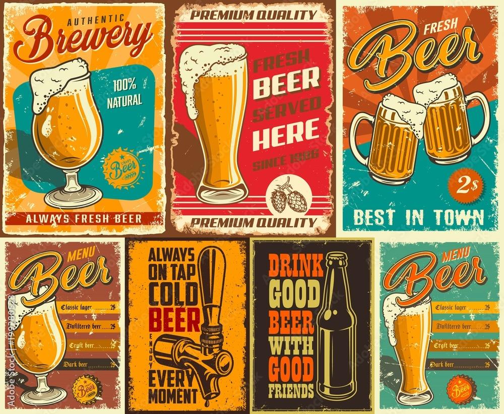 Zestaw plakat piwa