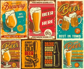Set of beer poster
