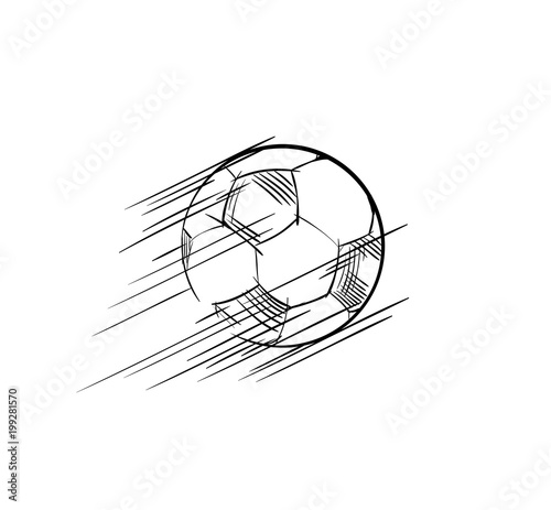 Goal, Soccer ball flying Icon  European football logo