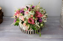 Natural Floral Arrangement For Events. Beautiful Flower Arrangement For Special Events Like Weddings.