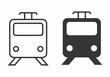 Black and white trains