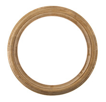 Round Wooden Frame Isolated On White Background