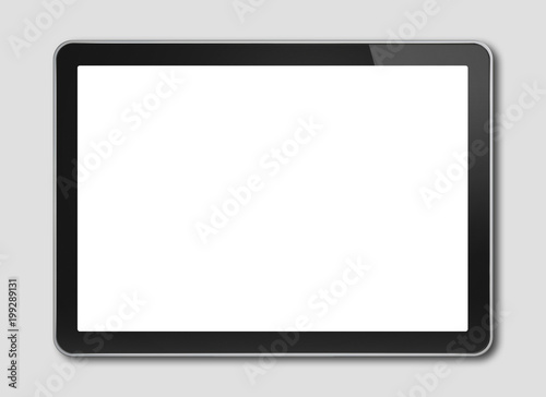Fototapeta Digital tablet pc, smartphone template isolated on grey obraz na płótnie