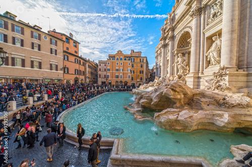 plakat Rome, Trevi Fountain. Italy.