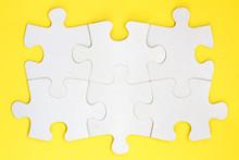 Group Of Six White Paper Jigsa...