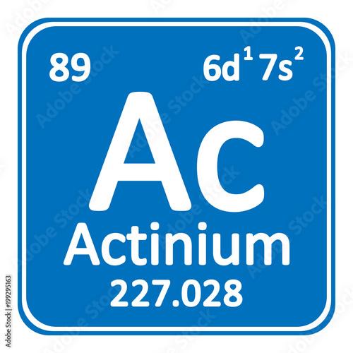 Photo Periodic table element actinium icon.