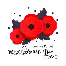 Remembrance Day Vector Card. Lest We Forget.