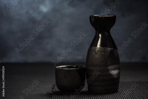 Sake traditional ceramic drinking set