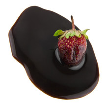 Strawberry In Chocolate Isolat...