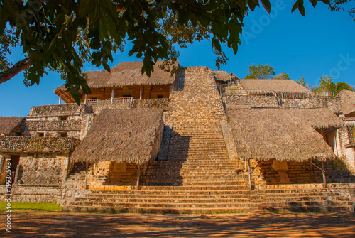 Foto op Aluminium Oude gebouw Majestic ruins in Ek Balam. Ek Balam is a Yucatec Maya archaeological site within the municipality of Temozon, Yucatan, Mexico.
