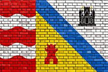 Flag Of Sluis Painted On Brick Wall